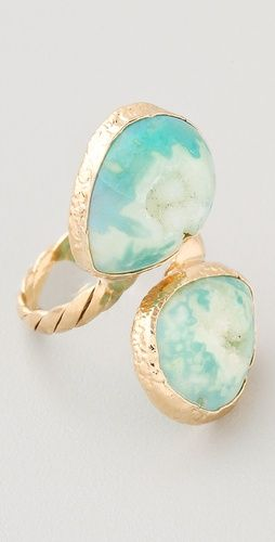 Dara Ettinger Angelica Ring | SHOPBOP: Angelica Rings, Blue Agates, Beautiful, Turquoi Jewelry, Agates Stones, Gold Rings, Agates Rings, Jewels Stones Jewelry, Blue Rings