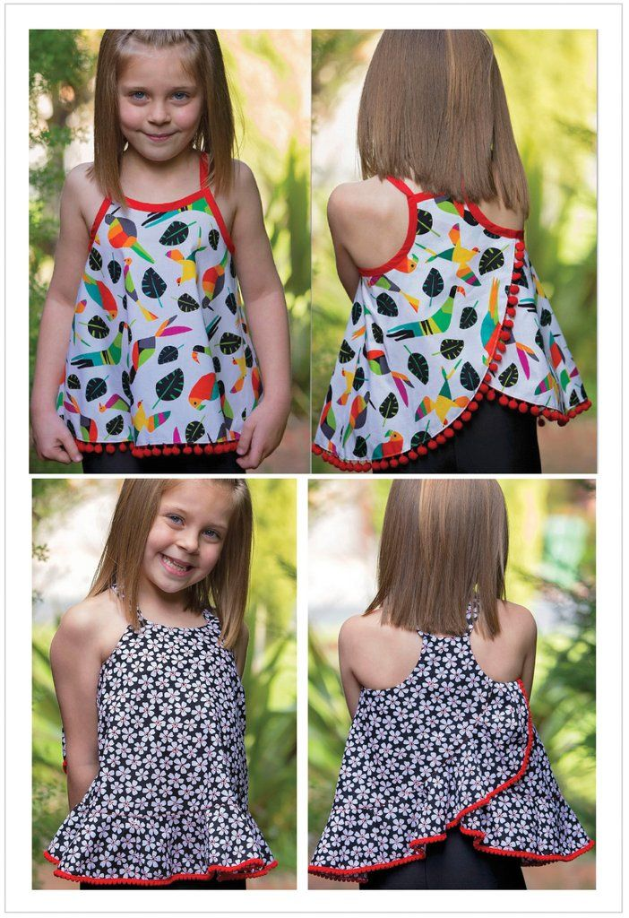 a87702dc249 Summer top   dress sewing pattern RIO TOP   DRESS sizes 4-14 years. 5  versions included.