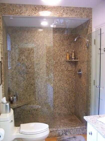 Large Granite Slabs Granite Shower Bathroom Inspiration
