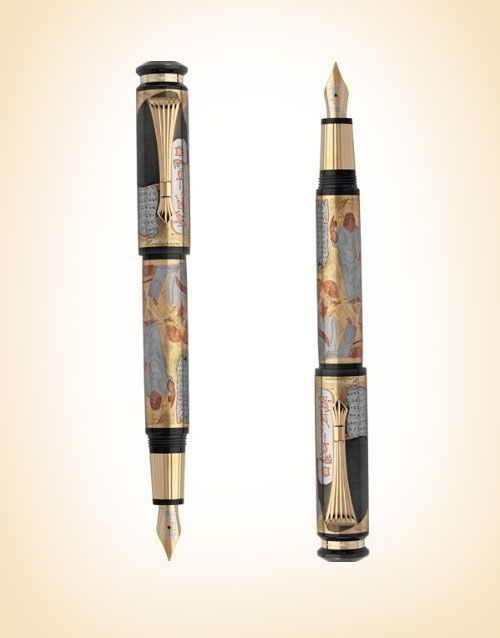 Yellow-Gold-Fountain-Most-Expensive-Pen-Gift-for-Valentine's-Day-2017