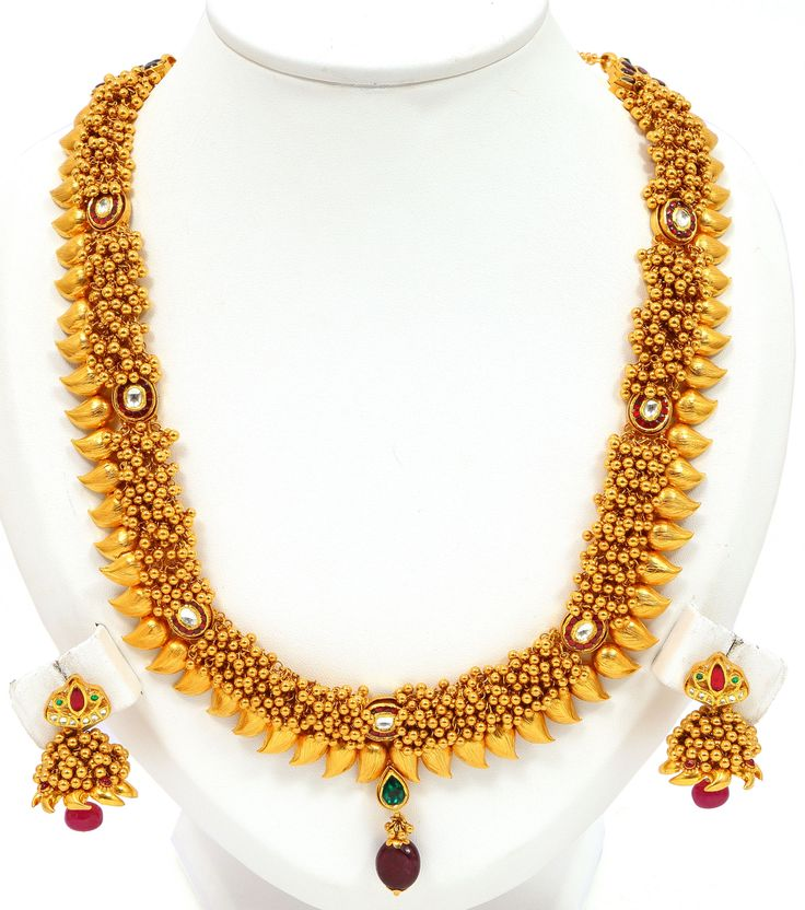 Rich Gold Mango Necklace