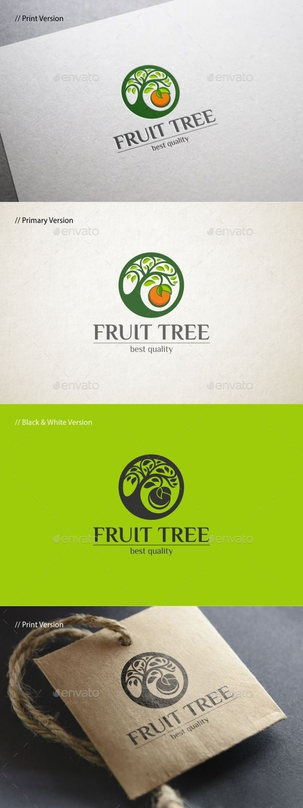 Fruit Tree Logo Template