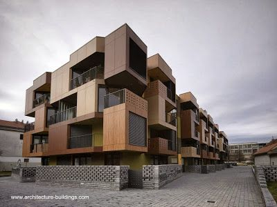 Residential building like Tetris in Slovenia - Arquitectura de diseño original inspirado en el Tetris, en Eslovenia