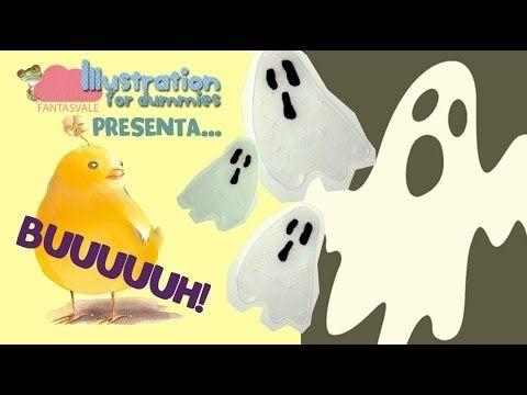 Tutorial come fare Fantasmini con la colla vinilica (Halloween DIY decorations) - YouTube
