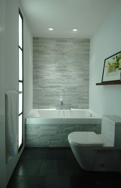 I am going to try and replicate this design in my dollhouse bathroom... A Bathroom of stone