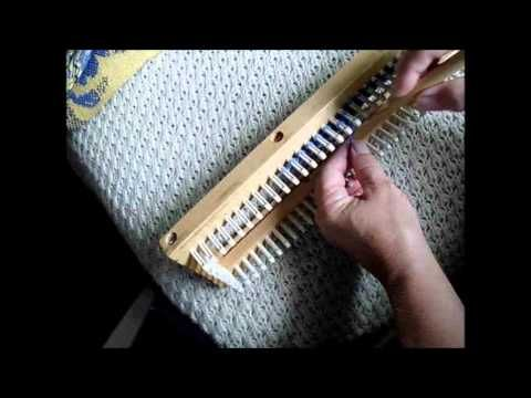 adjusting the tightness of the flat stitch on knitting boards - YouTube Loo...