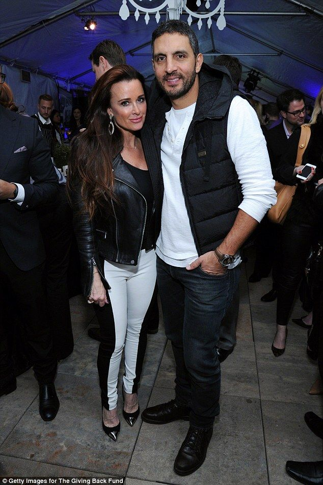 Tough love: Kyle Richards and husband Mauricio Umansky (pictured Jan 2014) have washed the...