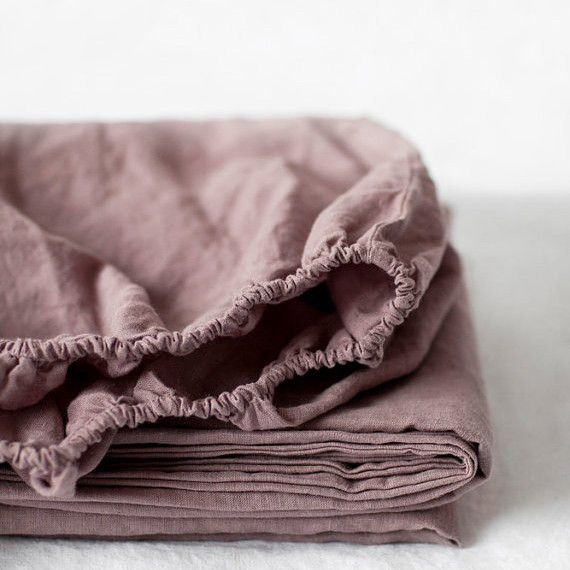 Organic Belgian Linen Stone Washed Fitted Sheet