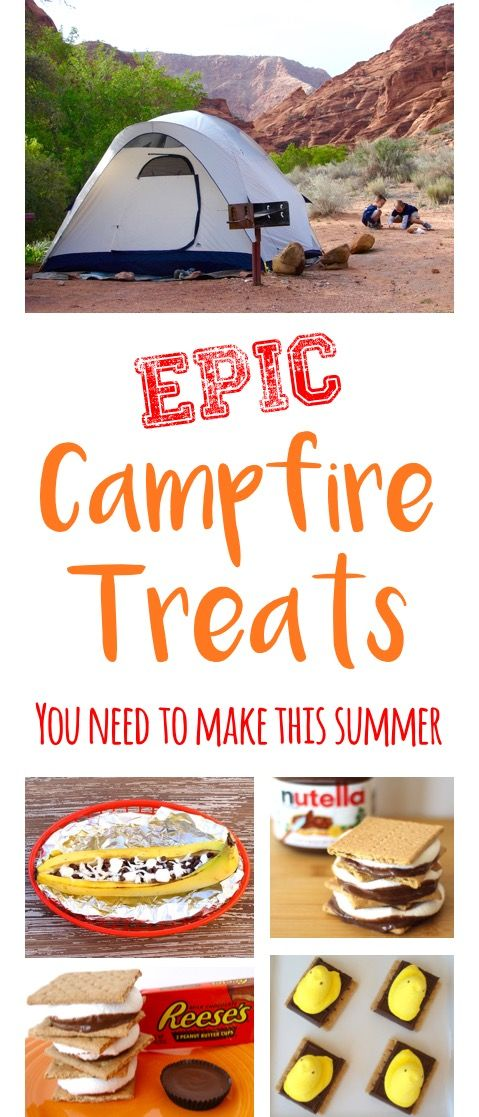 Camping Food Ideas!  Easy desserts and epic treats both kids and adults will LOVE! | TheFrugalGirls.com