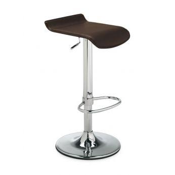 Sgabello girevole regolabile in altezza, seduta in cuoio rigenerato (340) | Sediarreda