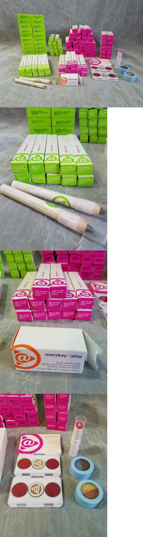 wholesale Makeup: Huge Lot 106 Mary Kay At Play Products Lip And Eye Crayon Liner Lip Gloss Eye Trio BUY IT NOW ONLY: $179.99