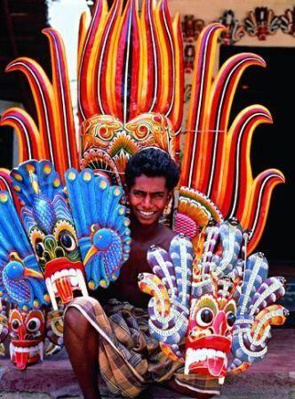 culturalcrosspollination:    Mask maker in Sri Lanka