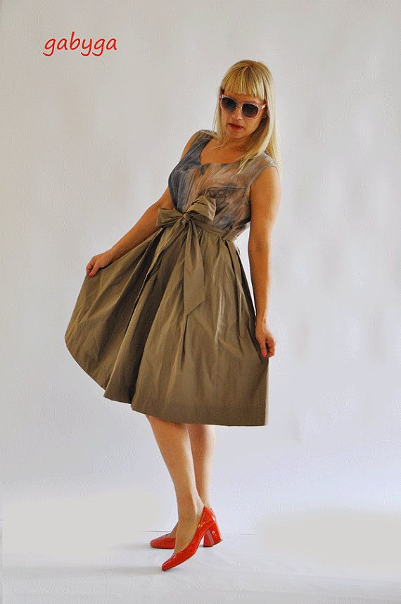 Beige plus size dress/Brown Dress/Maxi by Gabygaclothes on Etsy