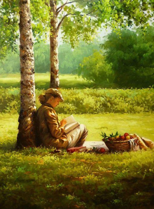 Durante a leitura, 2012 Douglas Okada (Brasil, 1984) óleo sobre tela, 50 x 70 cm
