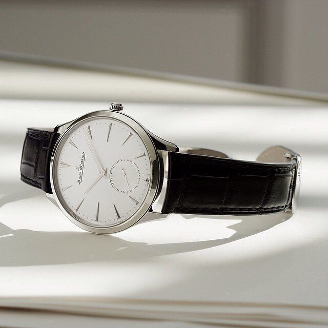 Timeless= not affected by the passage of time or changes in fashion.  This is the Master Ultra Thin by #JaegerLeCoultre. Photo credit: Jaeger LeCoultre. See this Instagram photo by @mywatchsquare • 43 likes