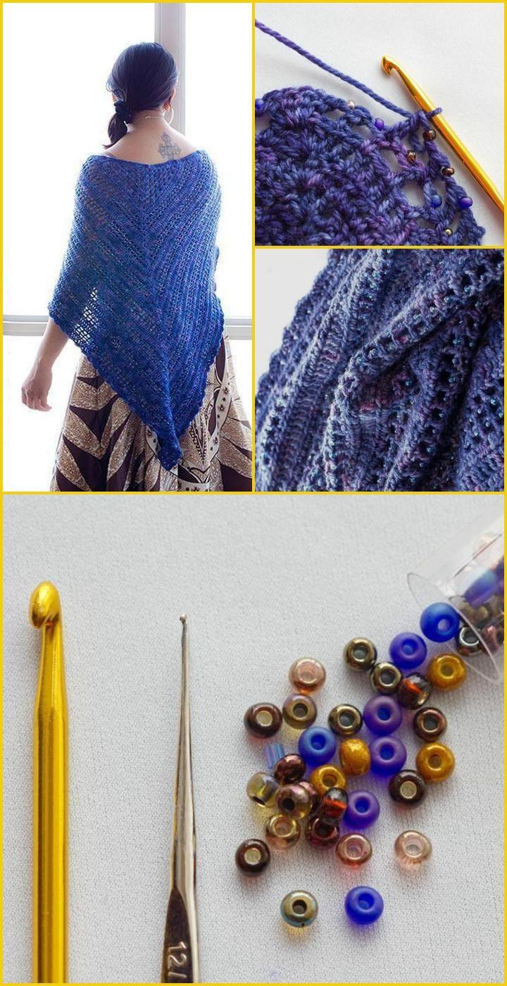 Crochet Lisa's Shawl - 100 Free Crochet Shawl Patterns - Free Crochet Patterns - DIY & Crafts