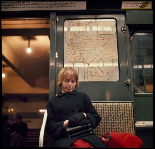 Pics by Danny Lyon, 1966, NYC subway