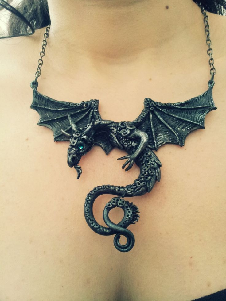 Dragon necklace by AstridMakosla.deviantart.com on @deviantART