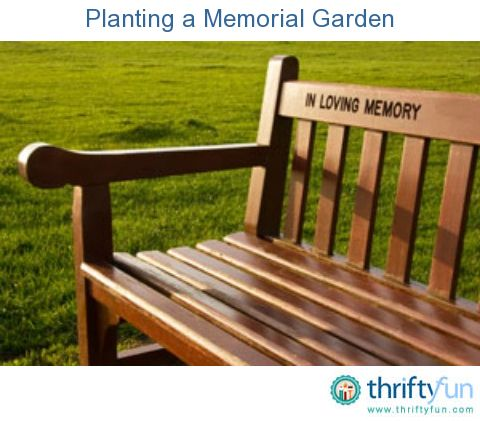Memorial Garden ideas. Lots of great ideas on what different types of flowers mean