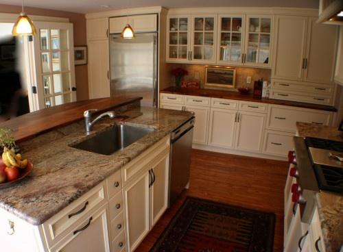 built in hutch area w counter depth fridge kitchens