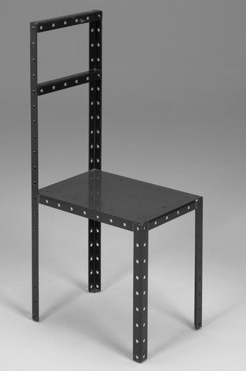I was given this chair by Mike Chu. The chair was designed for Heiner Müllers play `HamletMaschine` at the Hamburg Thalia Theatre, 1987. Robert Wilson had adapted and directed the play in 1987 together with the author. Signed Robert Wilson, Limited Edition