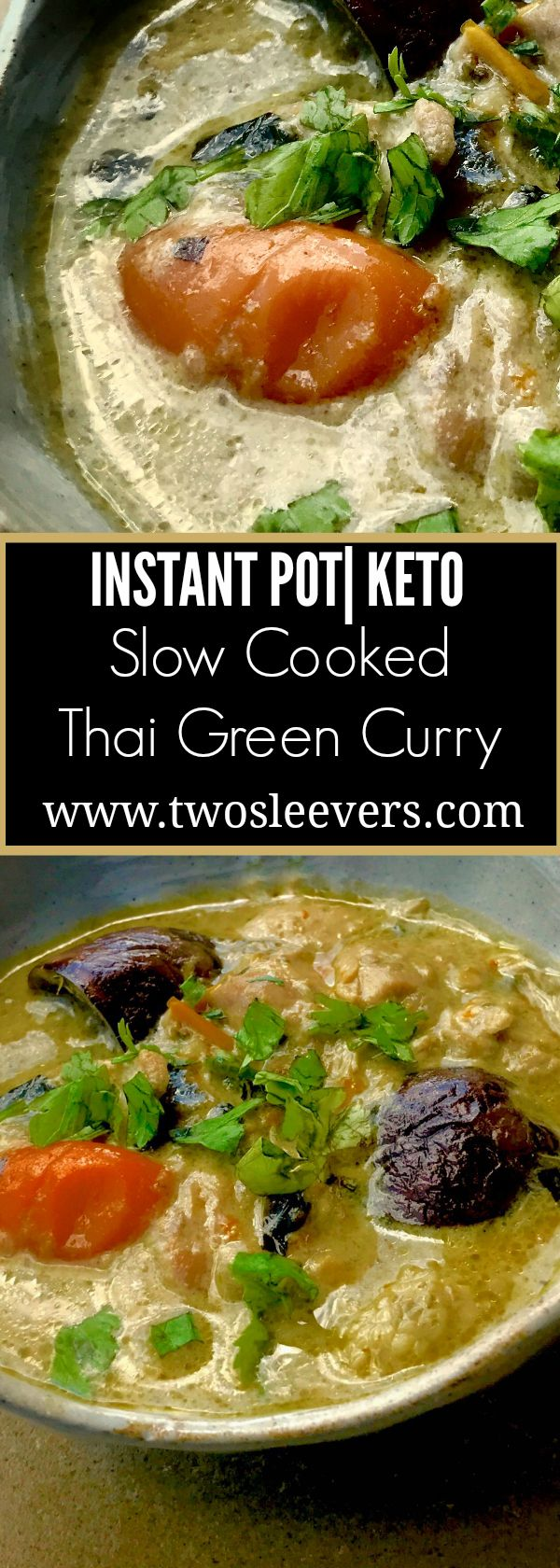 Easy, low carb, keto Thai food in your slow cooker or Instant Pot Slow Cooker. Thick, spicy, authentic Thai flavor at home.