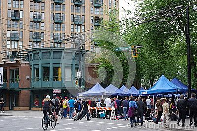 Sunday Pigeon Park street market in Vancouver's Downtown Eastside. Picture taken May 15, 2016