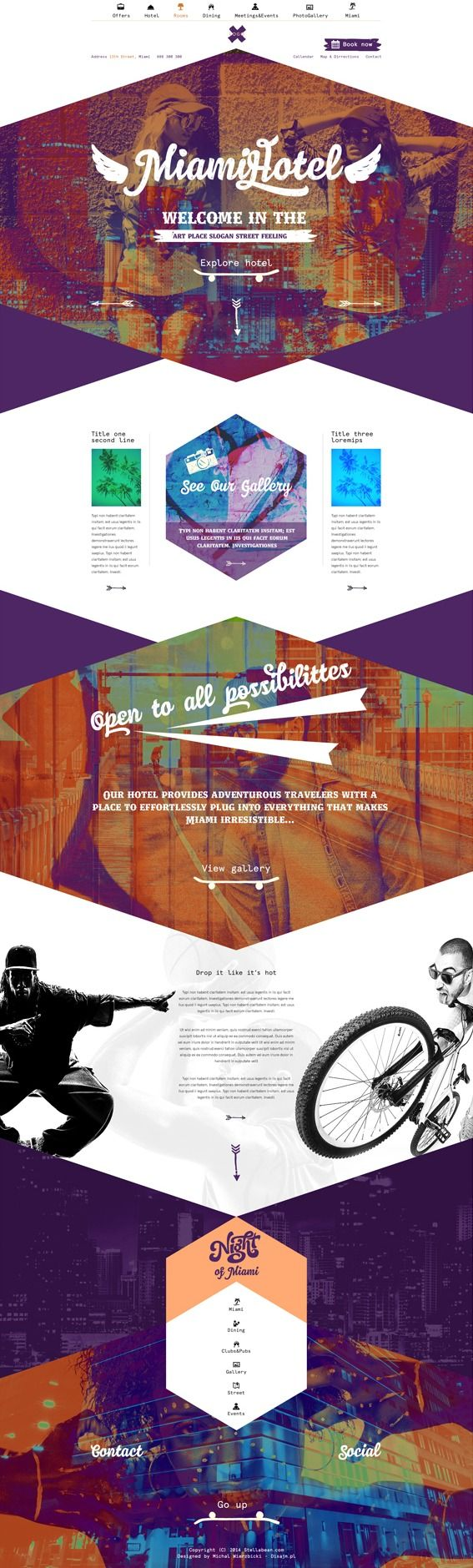Unique Web Design, Miami Hotel #WebDesign #Design By Michal Wierzbicki Lublin, Poland