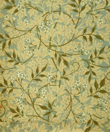Jasmine wallpaper, by William Morris (1834-96). Colour print from woodblocks. England, late 19th century.