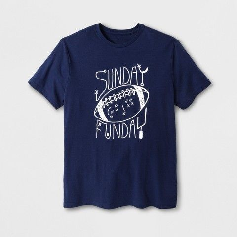Men's Short Sleeve Sunday Funday Graphic T-Shirt - Navy