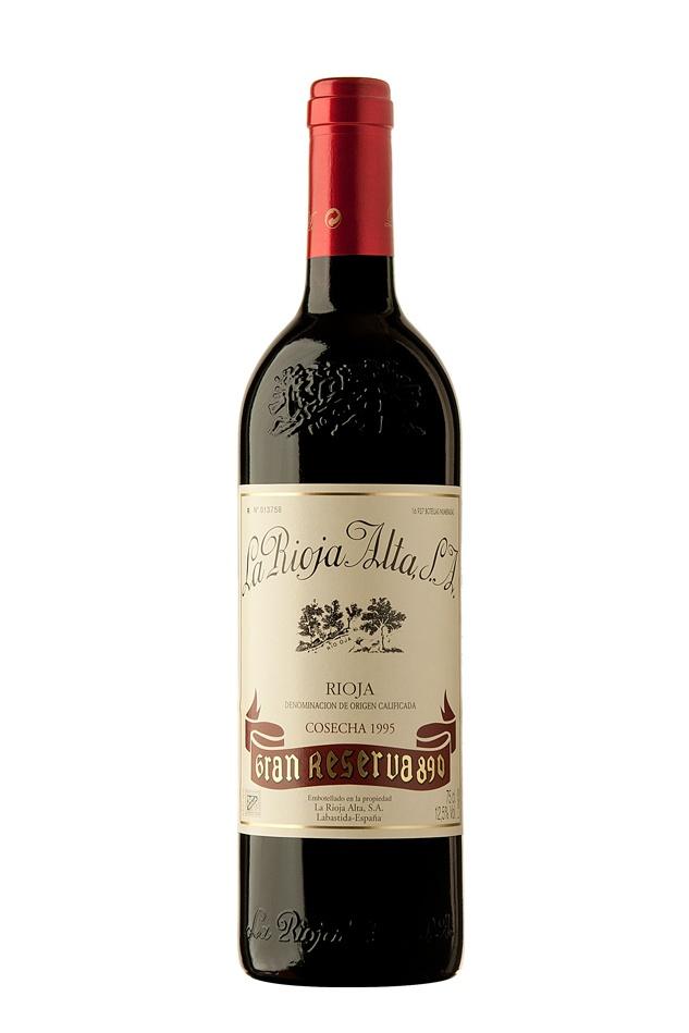 6 Bottles of 1995 Rioja Gran Reserva 890, La Rioja Alta, £539.70