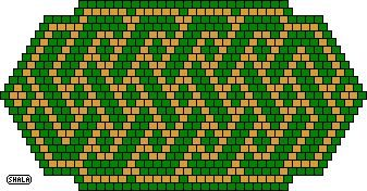 Free peyote (or brick) knotwork patterns from Shala Kerrigan of BellaOnline!