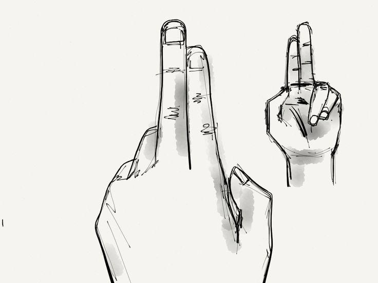 Dos dedos #gestos