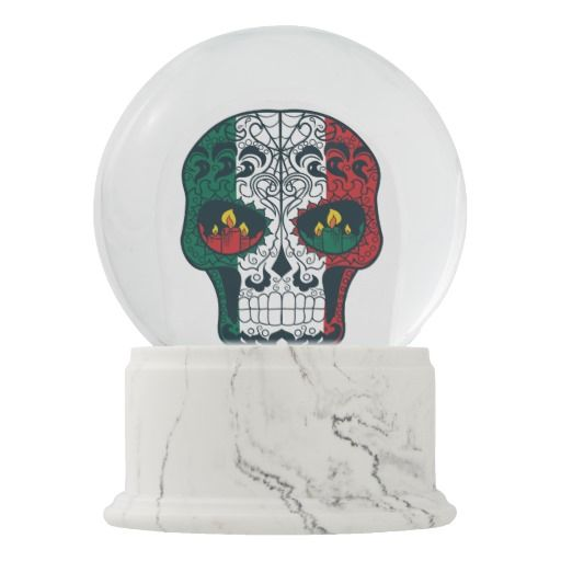 Mexican Flag Colors Day Of The Dead Sugar Skull