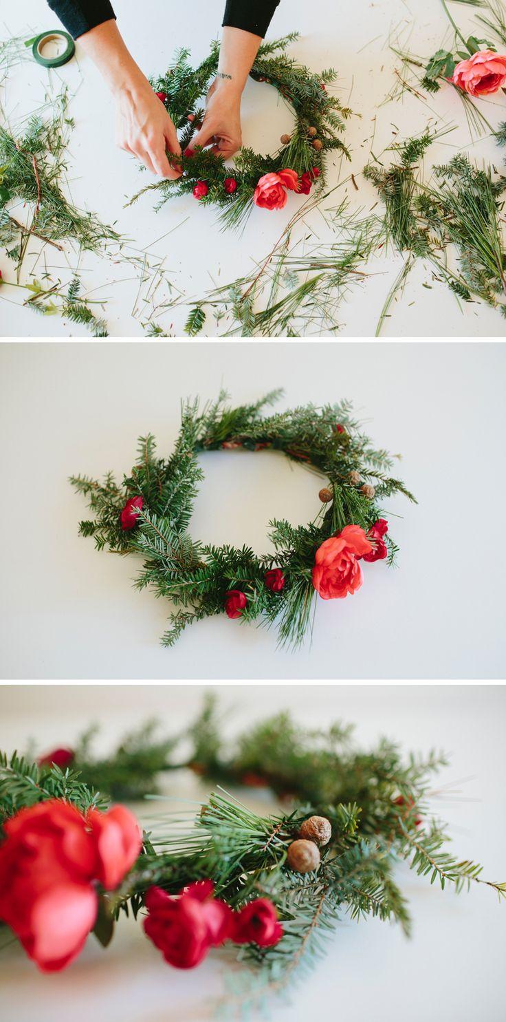 DIY Christmas Crown // DIY Flower Crown // walk in love.