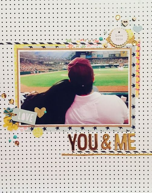 IheartProjectLife: My first Scrapbooking Layout ever