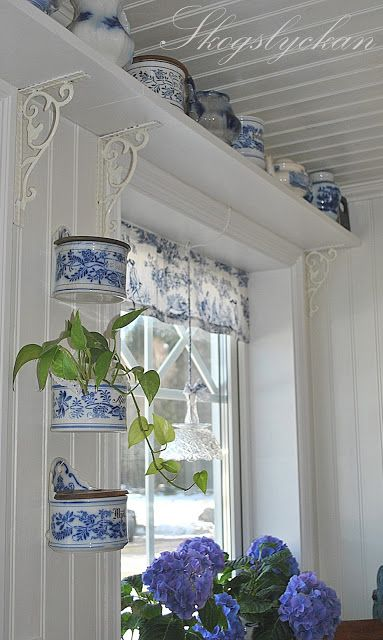 Are those hanging things tins, or china? Either way, they're lovely!