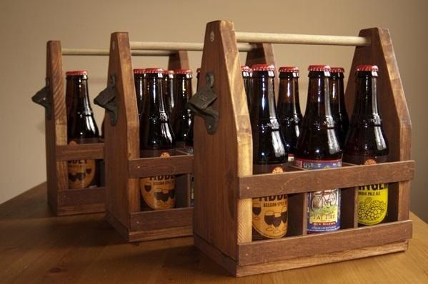 These DIY wooden six pack caddies are great for parties, or for grabbing your own mix-and-match pack at the grocery store. BYOB in style!