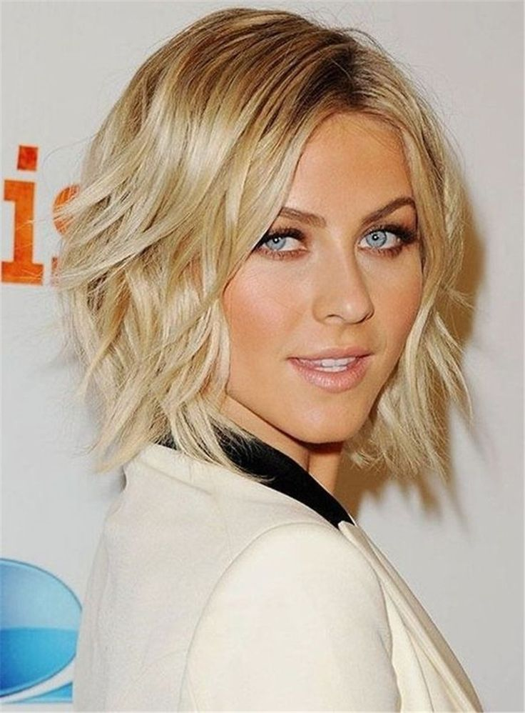 Short Wavy Layered Synthetic Hair Lace Front Wig #Fashion #Wigs #Beauty #HairStyle