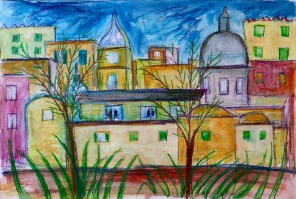 Titolo: Landscape, Tecnica: Tecnica mista, Dimensione: 30 x 40 cm, Artist: Silvio Mazzotta