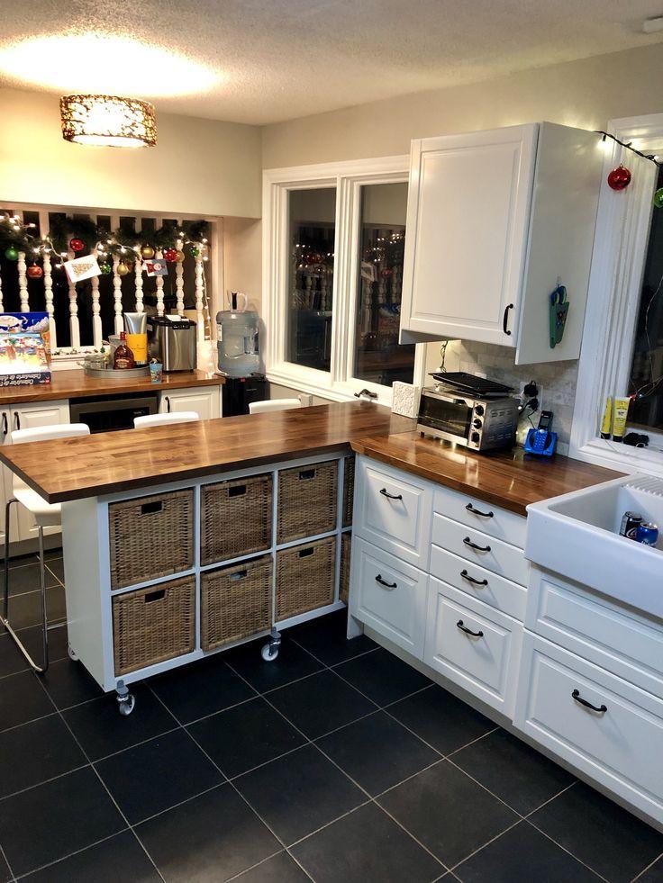Ikea Kallax Kitchen Island Peninsula Hack Kallax On