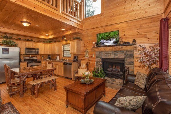 Let The Good Times Roll Luxury 2 Bedroom Pigeon Forge Cabin Rental Luxury Cabin Rental Log Cabin Living Pigeon Forge Cabin Rentals