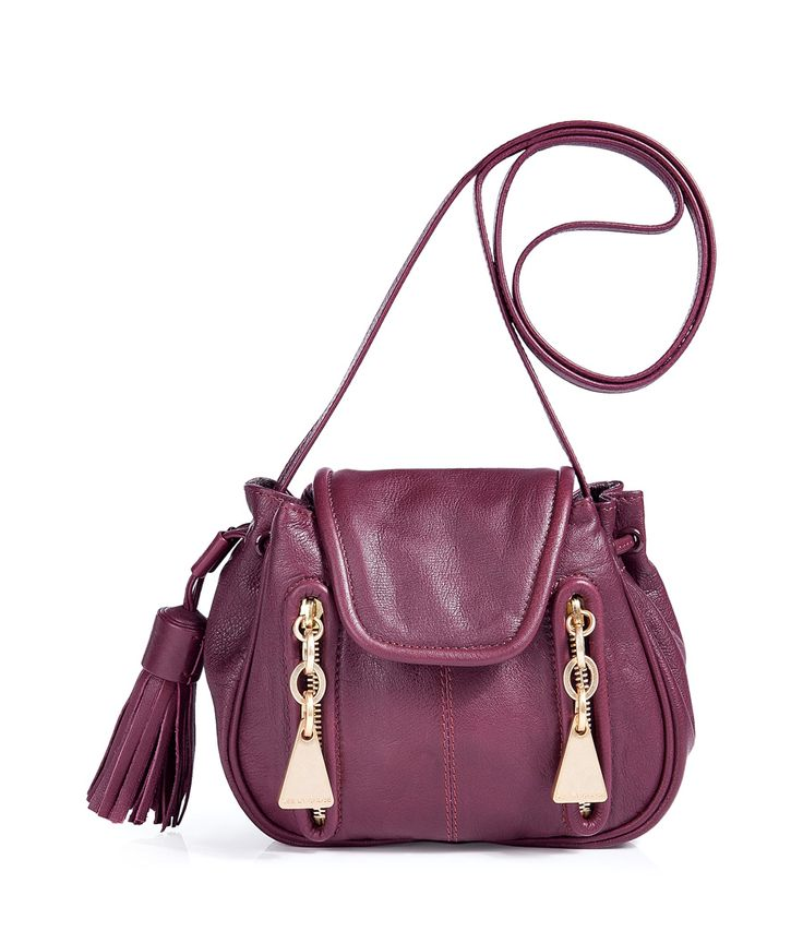 Burgundy Leather Small Cross Body Bag