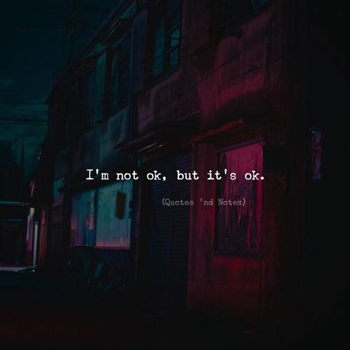 Im not ok but its ok. via (http://ift.tt/2FfaJjD)