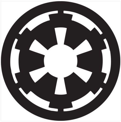 Wall Window Vehicle Star Wars Imperial logo Decal Vinyl sticker