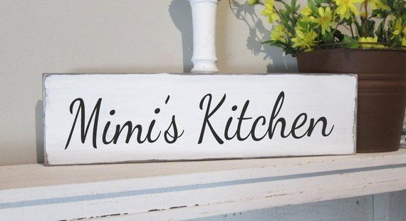 Mimi S Kitchen Kitchen Wall Decor Grandmother Gift Wood Sign