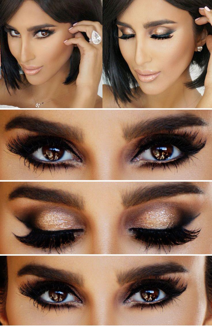 Lilly Ghalichi glamorous makeup, dramatic eyelashes. Gorgeous!