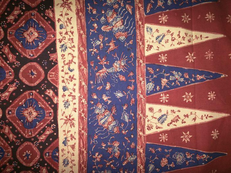 Batik tulis (hand waxed and resist dyed) from Jambi, Sumatra, Indonesia.