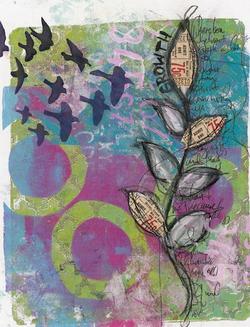 Growth art journal page
