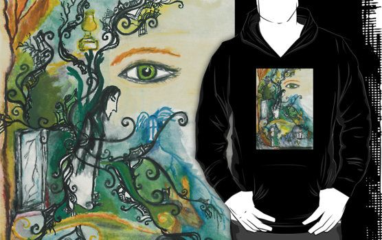 Soul of Snape hoodie jumper  Severus Snape's soul - watercolor charachter belongs to J.K.Rowling and the Harry Potter universe  severus snape, harry potter, slytherin, lily evans, always, after all this time, after all this time always, doe, patronus, snape, hogwarts, professor snape, potions, half blood prince, deathly hallows, rowling, mirror of erised, love, dungeon, flourish, jkrowling, hp, perselus piton, severus piton